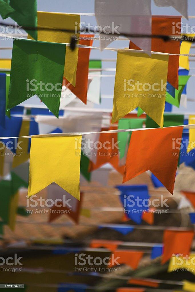 Decorative pennants royalty-free stock photo