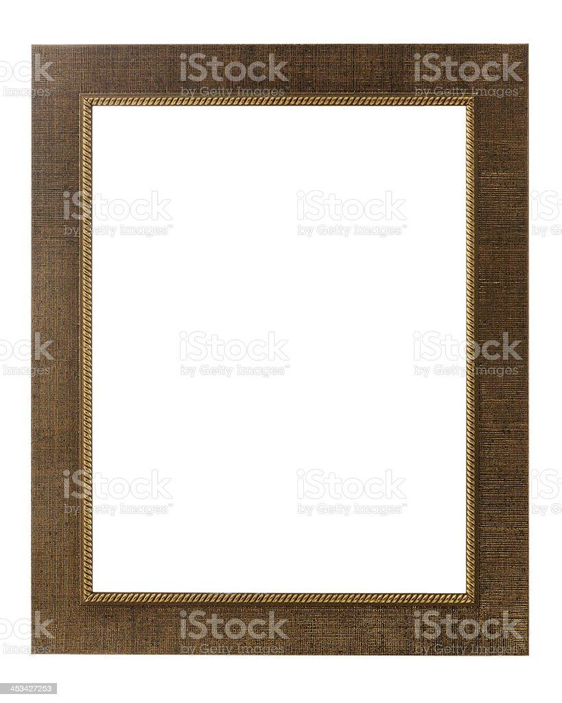 Decorative photo frame isolated on white background. stock photo