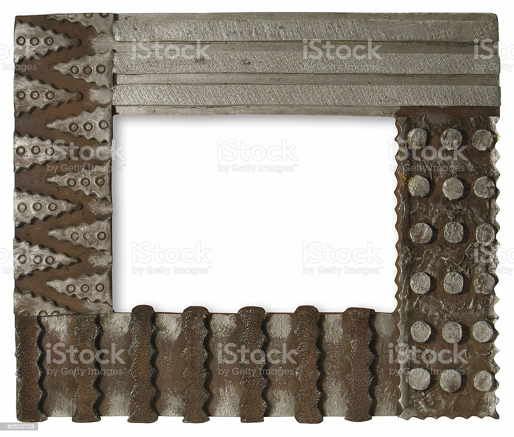 Decorative picture frame [with clipping paths] royalty-free stock photo