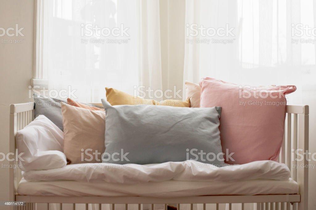 Decorative Pillows on a Casual Sofa stock photo