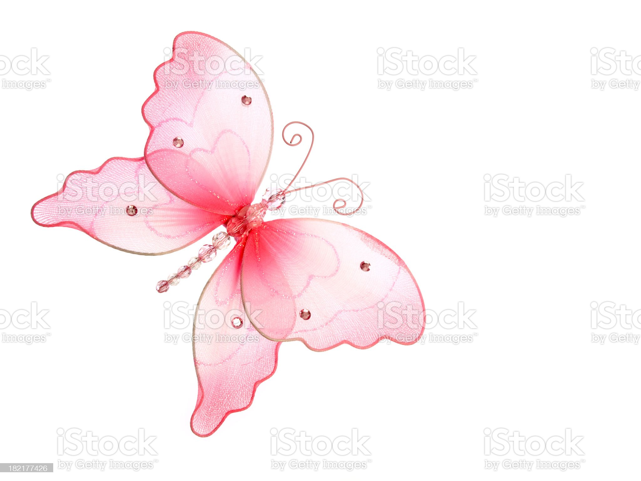 Decorative Pink Butterfly royalty-free stock photo