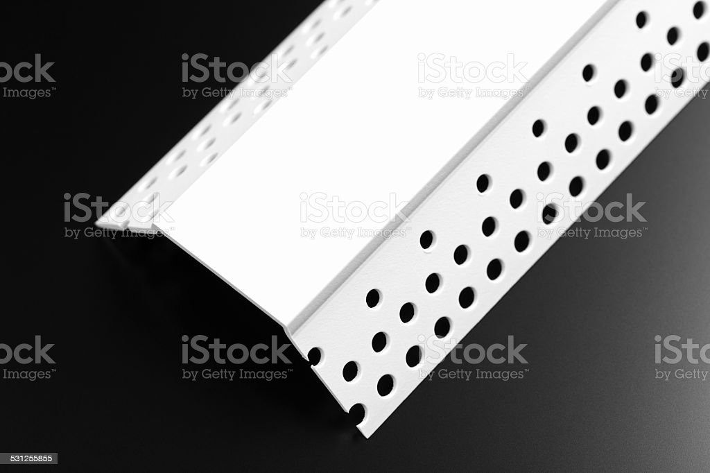 Decorative Plastic Chamfer Bead for Drywall stock photo