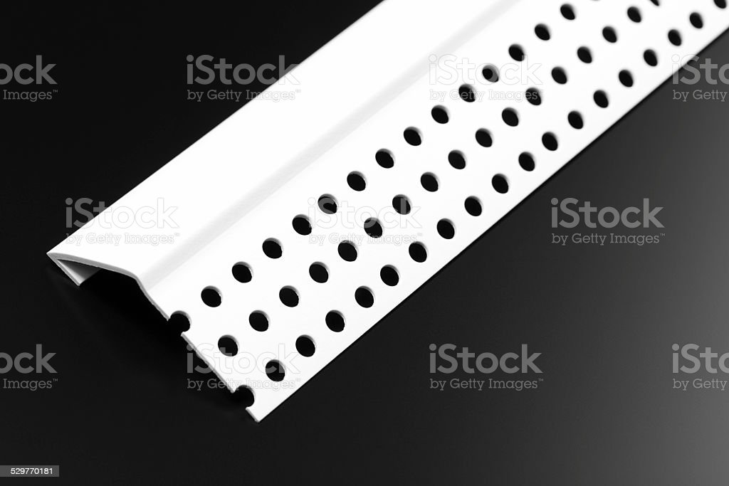 Decorative Plastic Drywall Chamfer Stop stock photo
