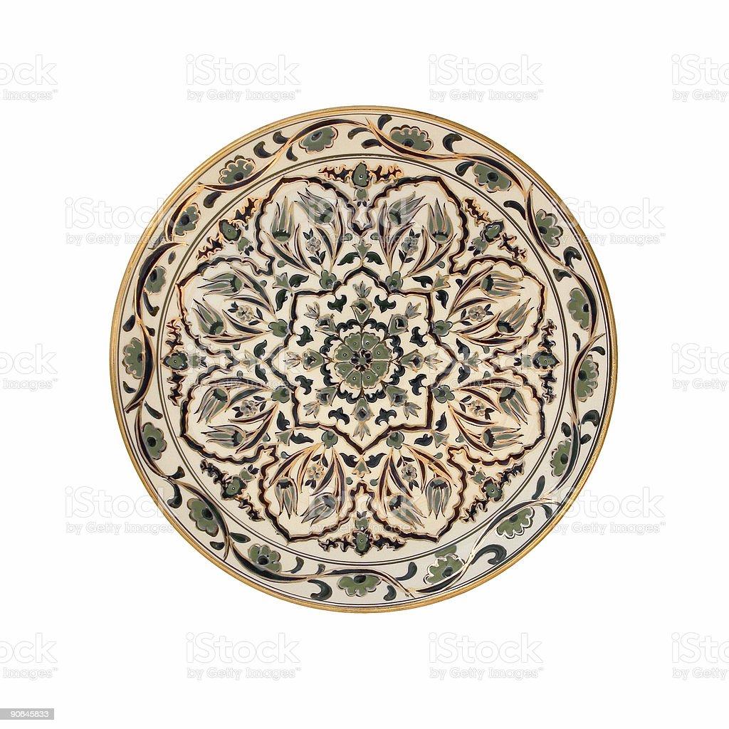 Decorative Plate Design royalty-free stock photo
