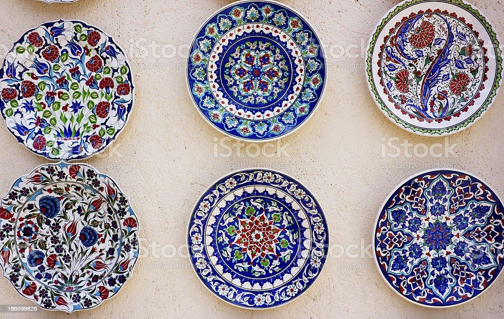 Decorative plates royalty-free stock photo
