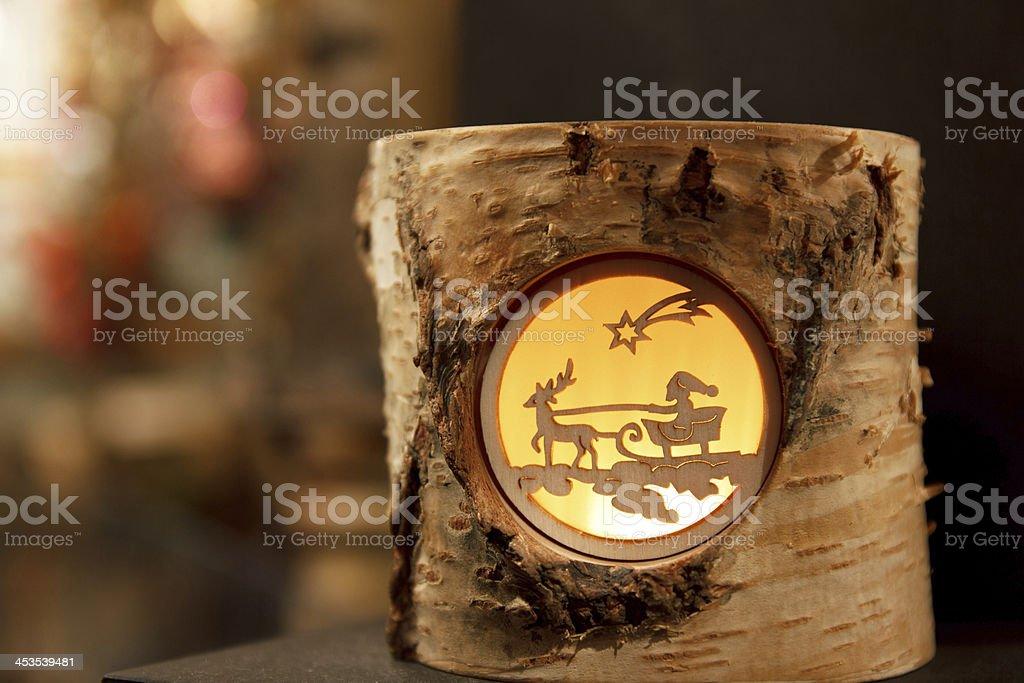 Decorative Reindeer Stump royalty-free stock photo