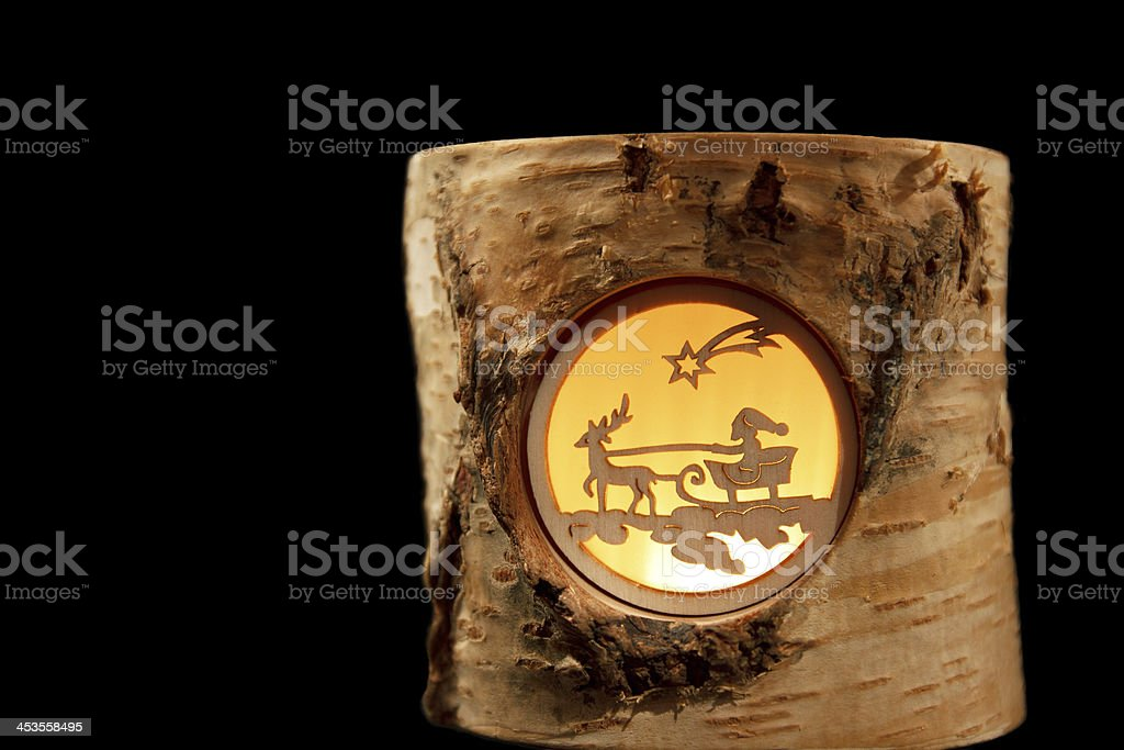 Decorative Reindeer Stump (isolated) royalty-free stock photo