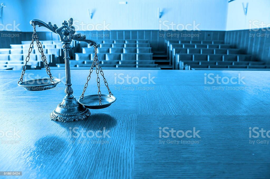 Decorative Scales of Justice stock photo