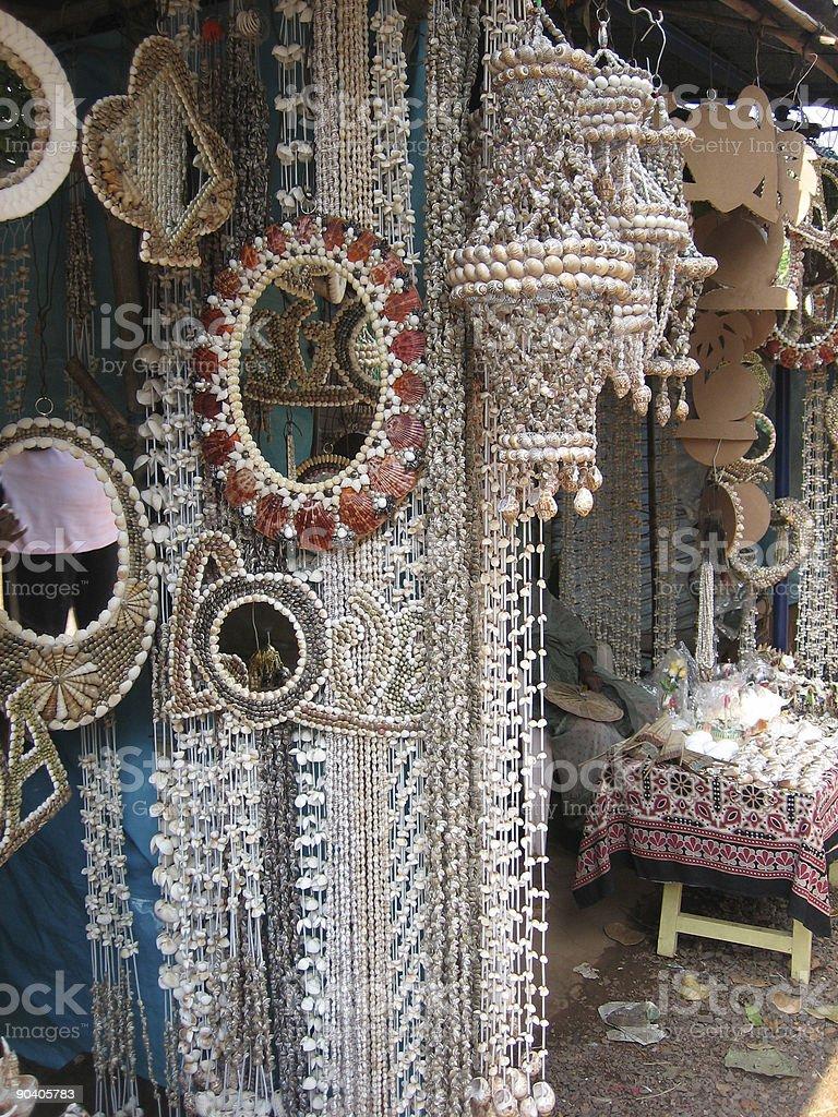 Decorative shells, Goa, India stock photo