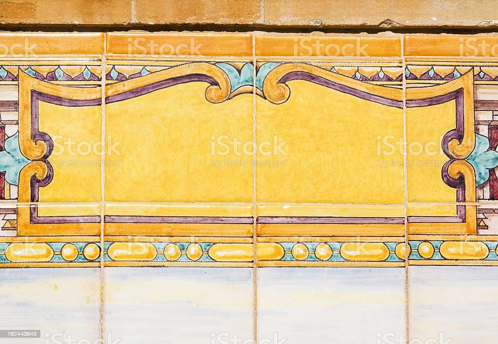 Decorative Spanish Tiles stock photo
