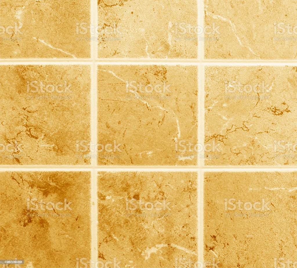 decorative square wall with marble slabs stock photo