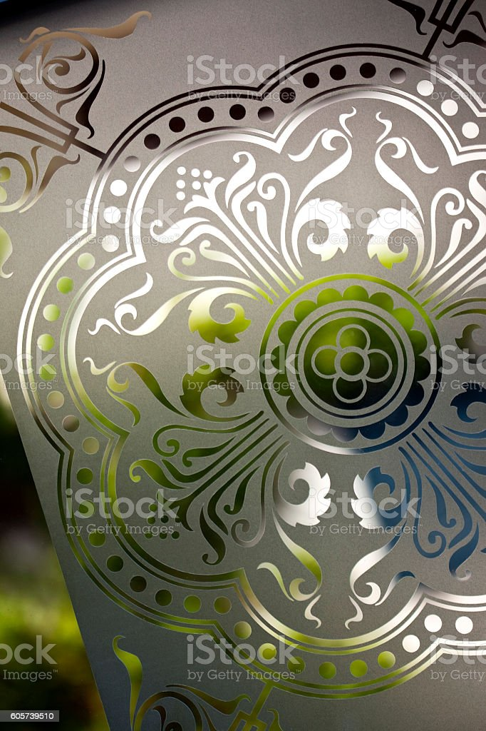 Decorative stained glass stock photo