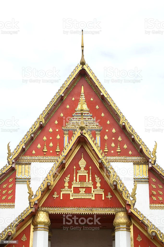 Decorative temple roof  Thailand stock photo