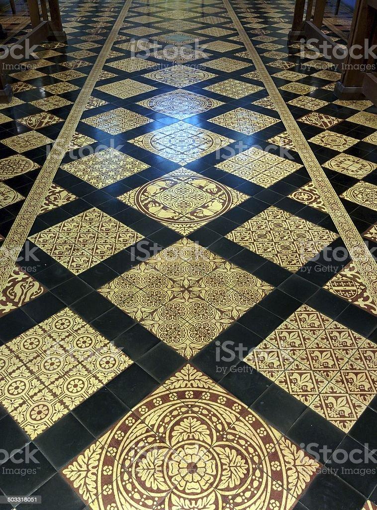 Decorative Tiled Floor stock photo