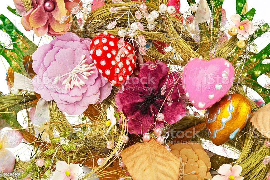 Decorative toy tree background stock photo