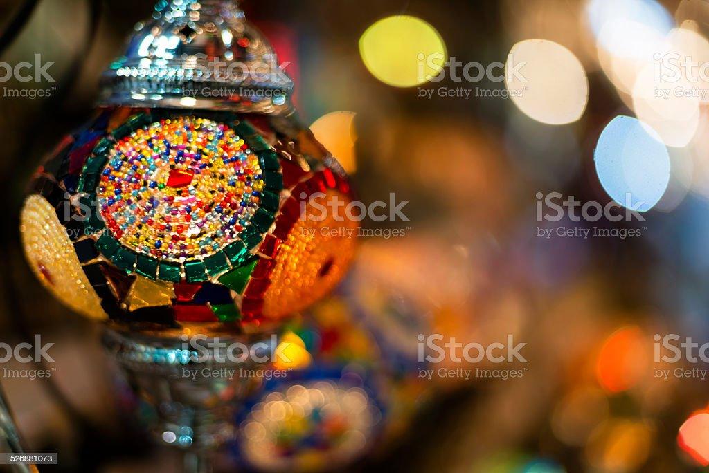 Decorative Turkish Lamp, Istanbul Grand Bazaar stock photo