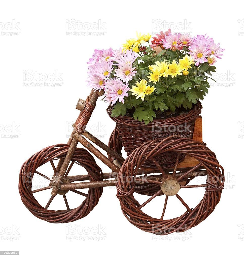 Decorative vase with flowers royalty-free stock photo