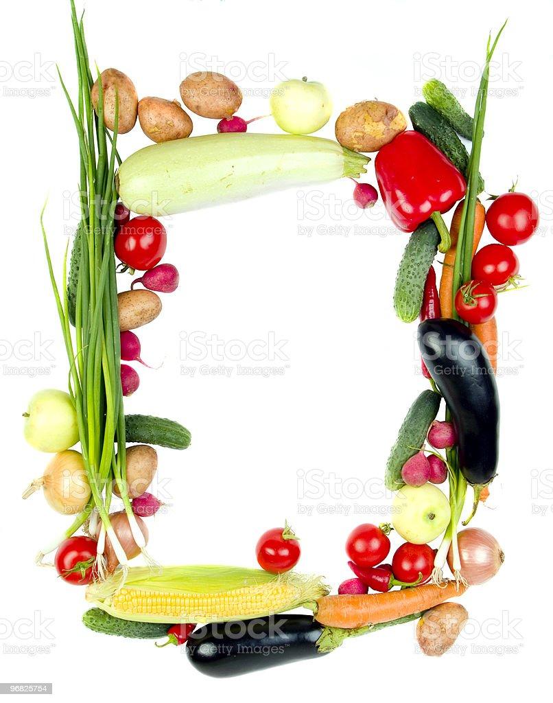 Decorative vegetables frame royalty-free stock photo