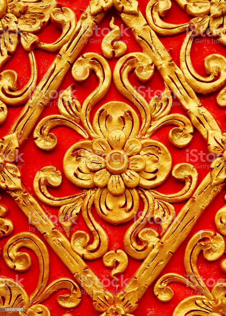 decorative vintage background in thai style royalty-free stock photo
