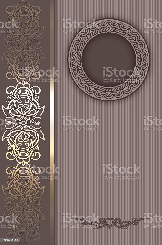 Decorative vintage background with frame. stock photo