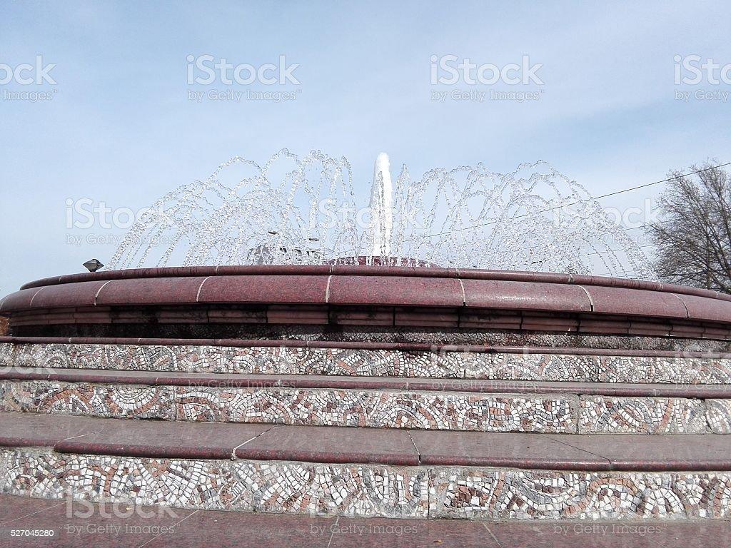 Decorative Water Fountain stock photo