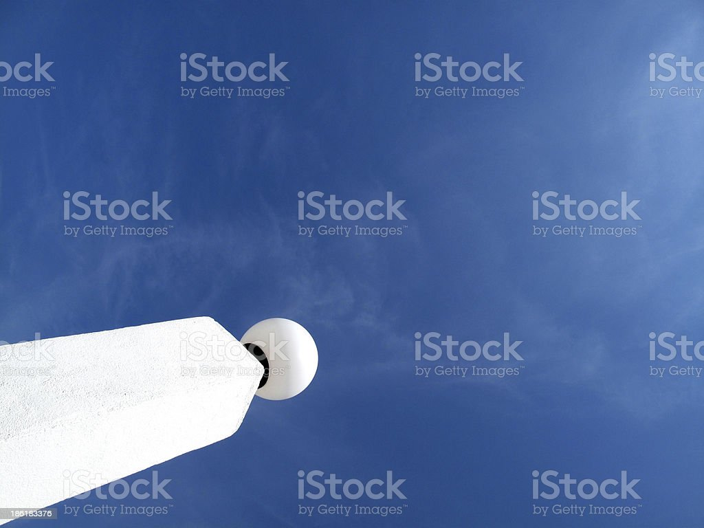 Decorative white column and sphere. royalty-free stock photo