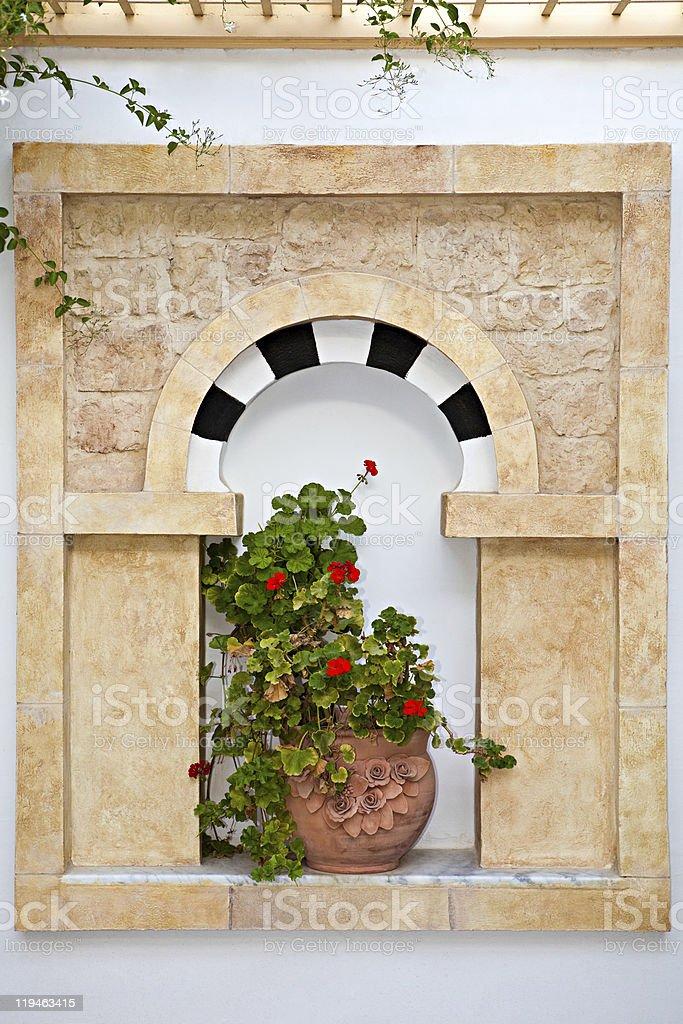 Decorative window royalty-free stock photo