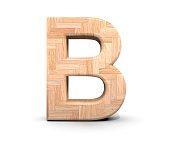 3D decorative wooden Alphabet, capital letter B