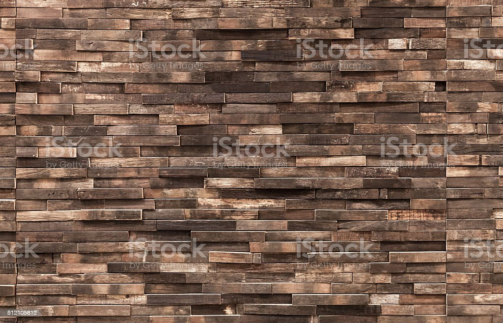 Decorative wooden wall background texture stock photo