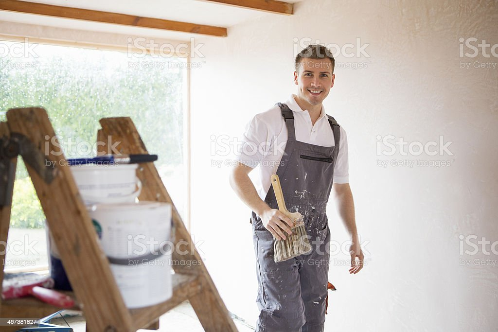 Decorator and his Tools stock photo