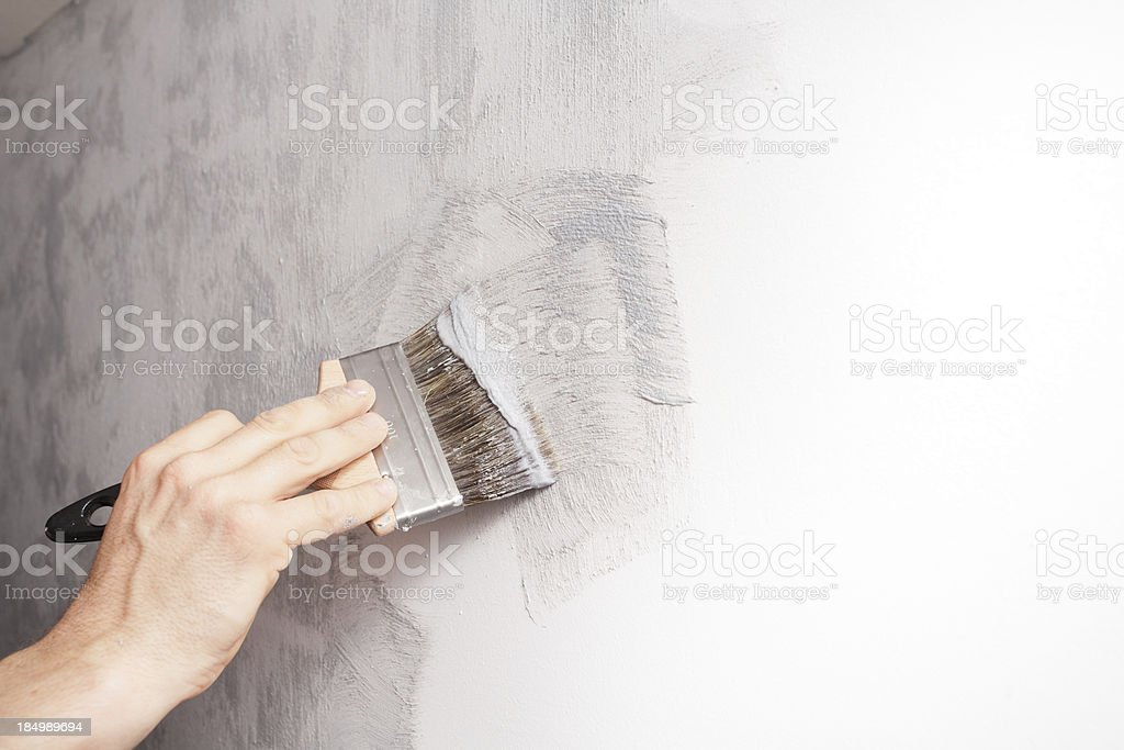 Decorator At Work royalty-free stock photo