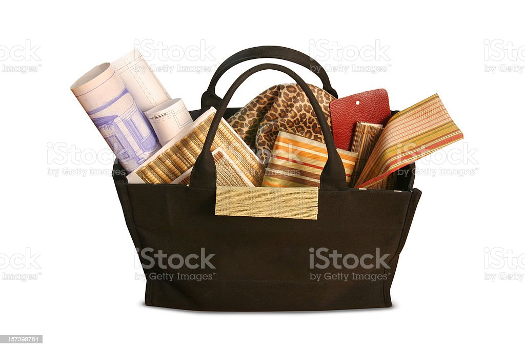 Decorator's Bag with Clipping Path royalty-free stock photo