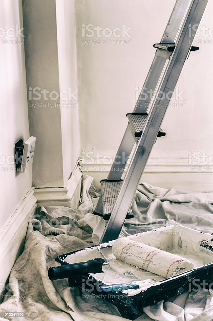 Decorators tools stock photo