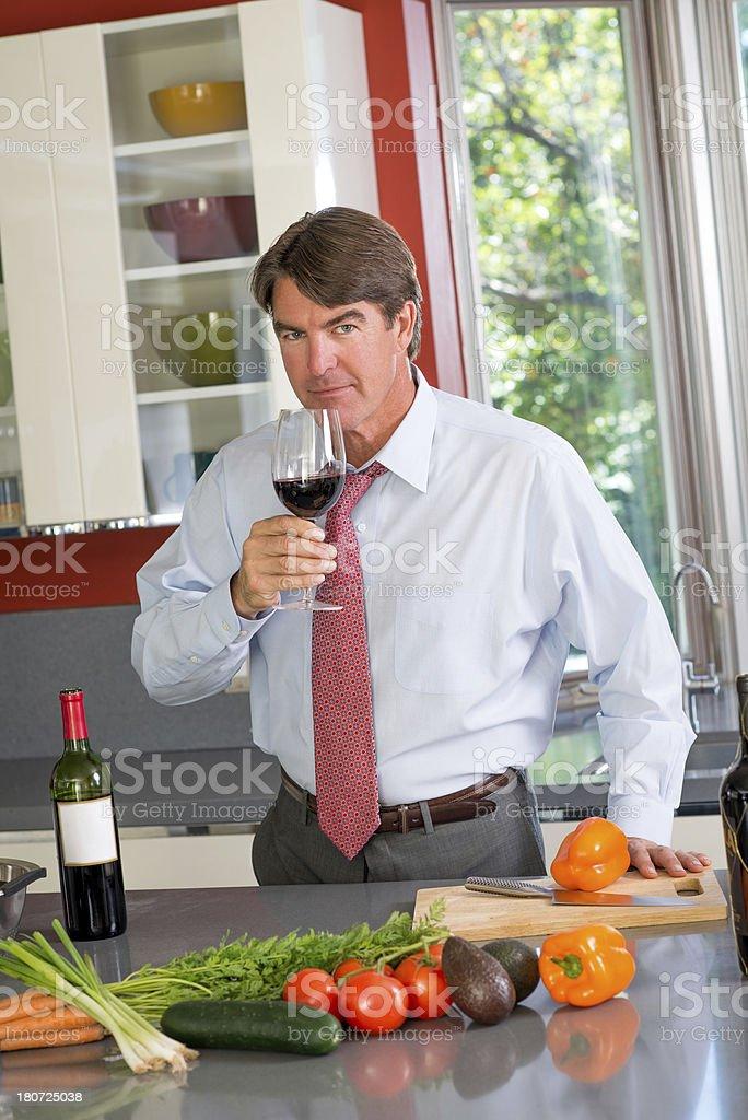 De-Corking A Wine Bottle royalty-free stock photo