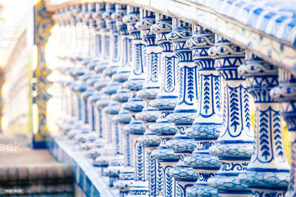 Decor's details in Seville royalty-free stock photo