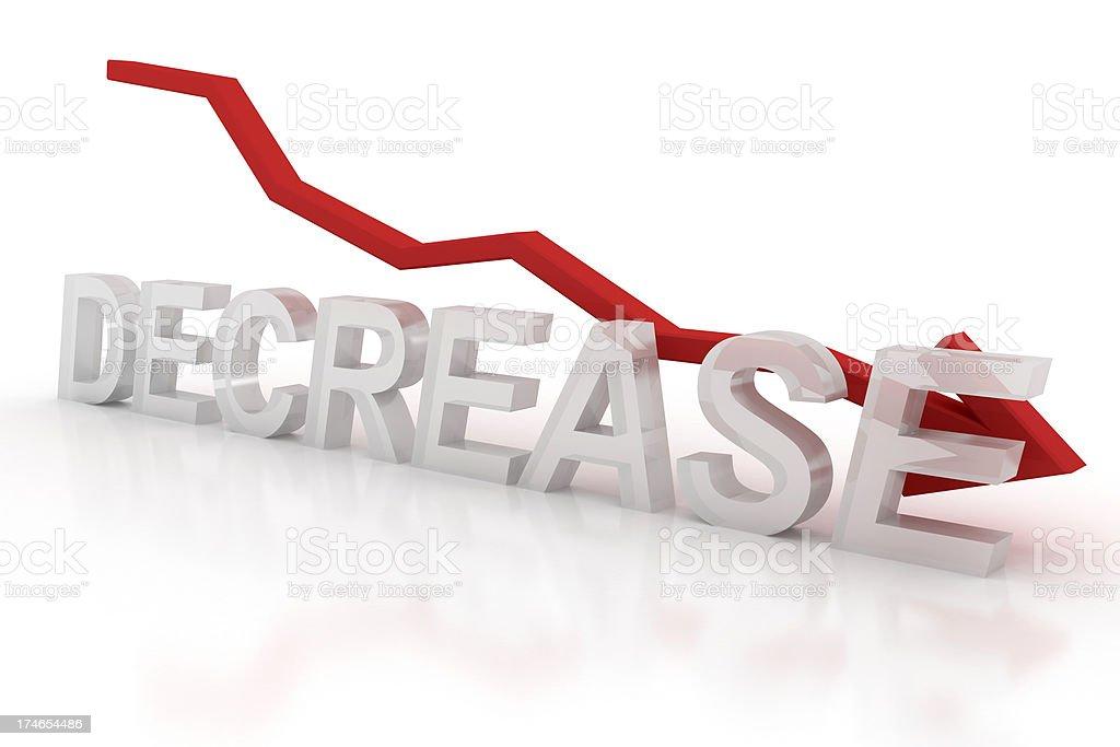 Decrease - graph royalty-free stock photo