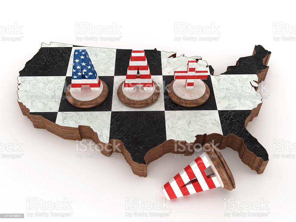 Decrease of USA credit rating stock photo