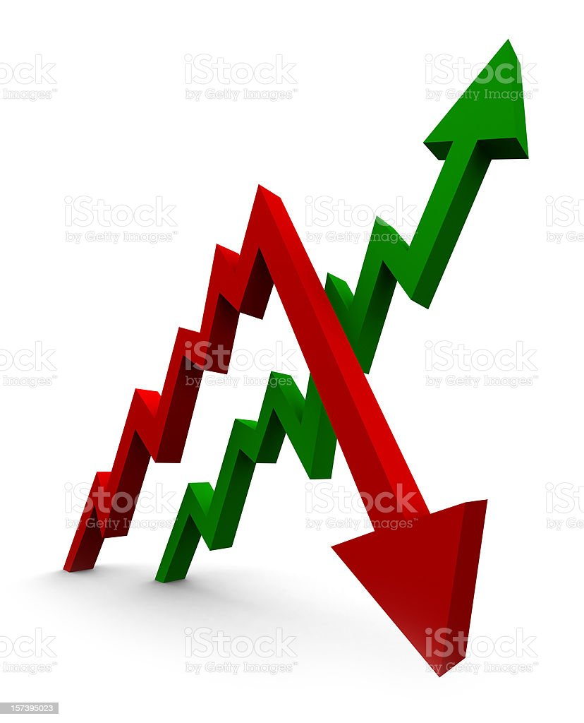 Decreases and Growth royalty-free stock photo