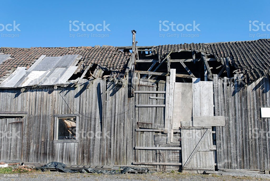 Decrepit Barn stock photo