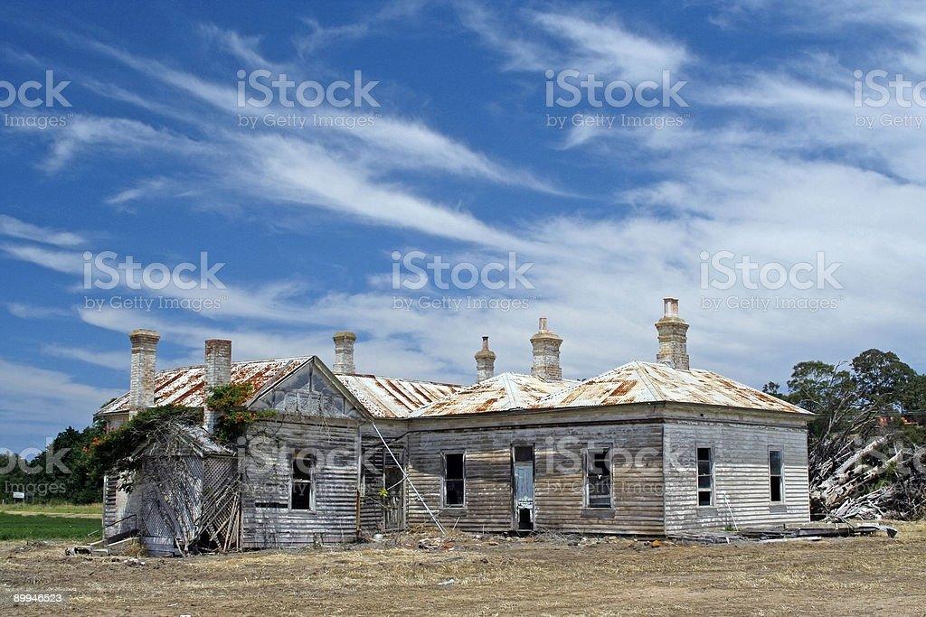 Decrepit old homestead stock photo