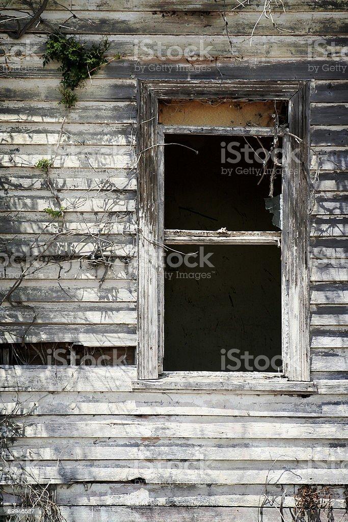 Decrepit old window stock photo