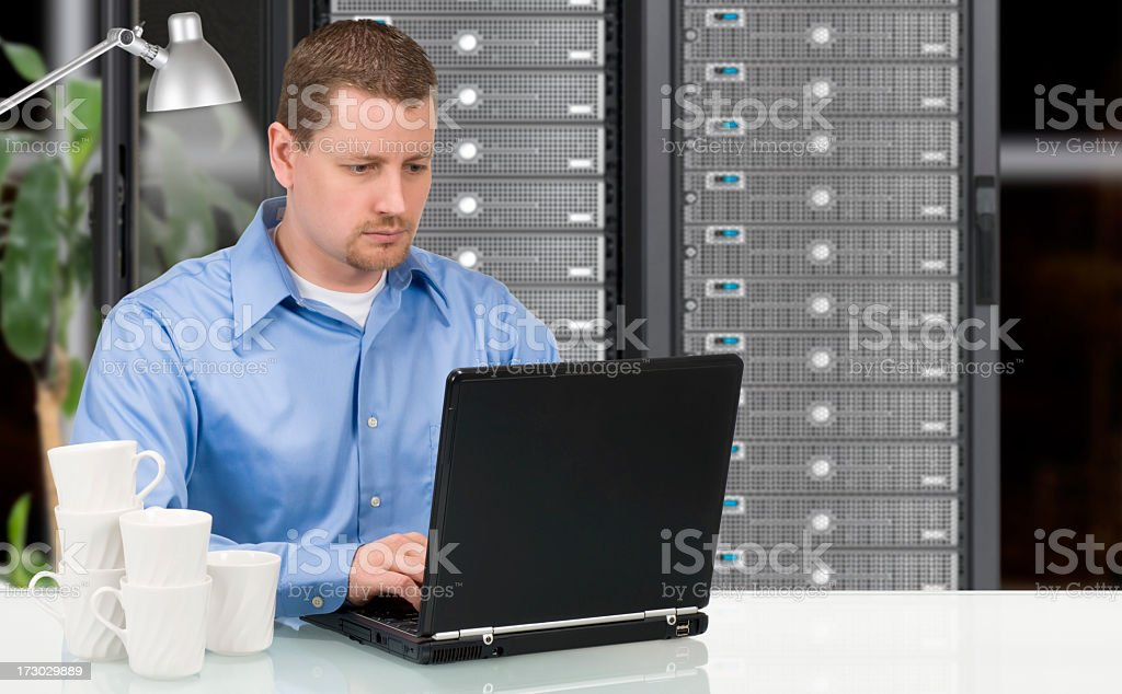 Dedicated IT Professional royalty-free stock photo