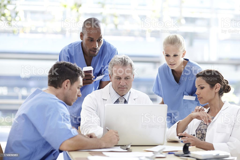 Dedicated team of healthcare professionals royalty-free stock photo
