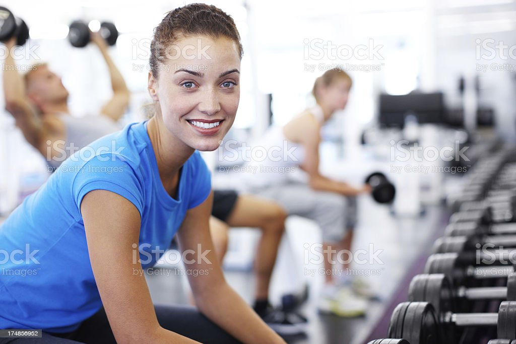 Dedicated to a healthy lifestyle royalty-free stock photo