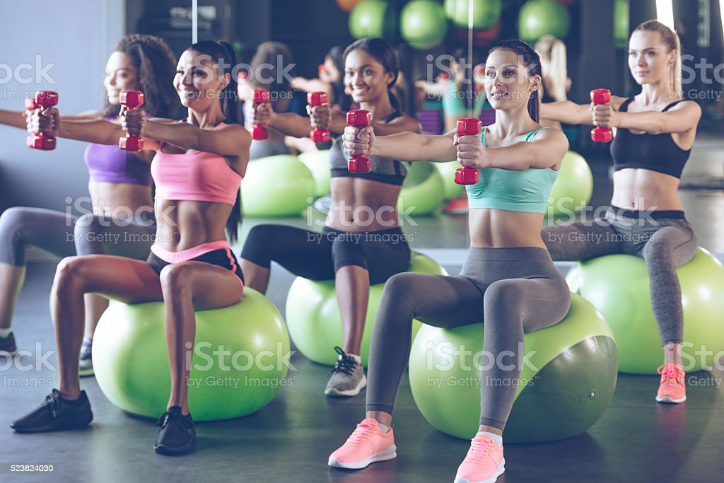 Dedicated to fitness. stock photo