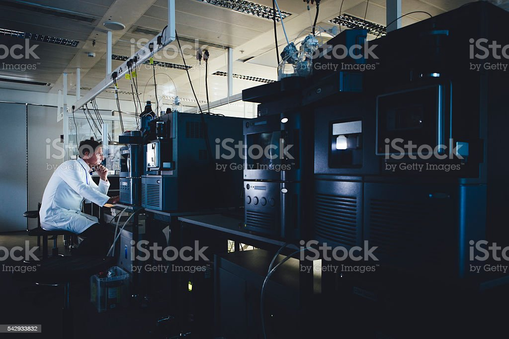 Dedicated to Research stock photo