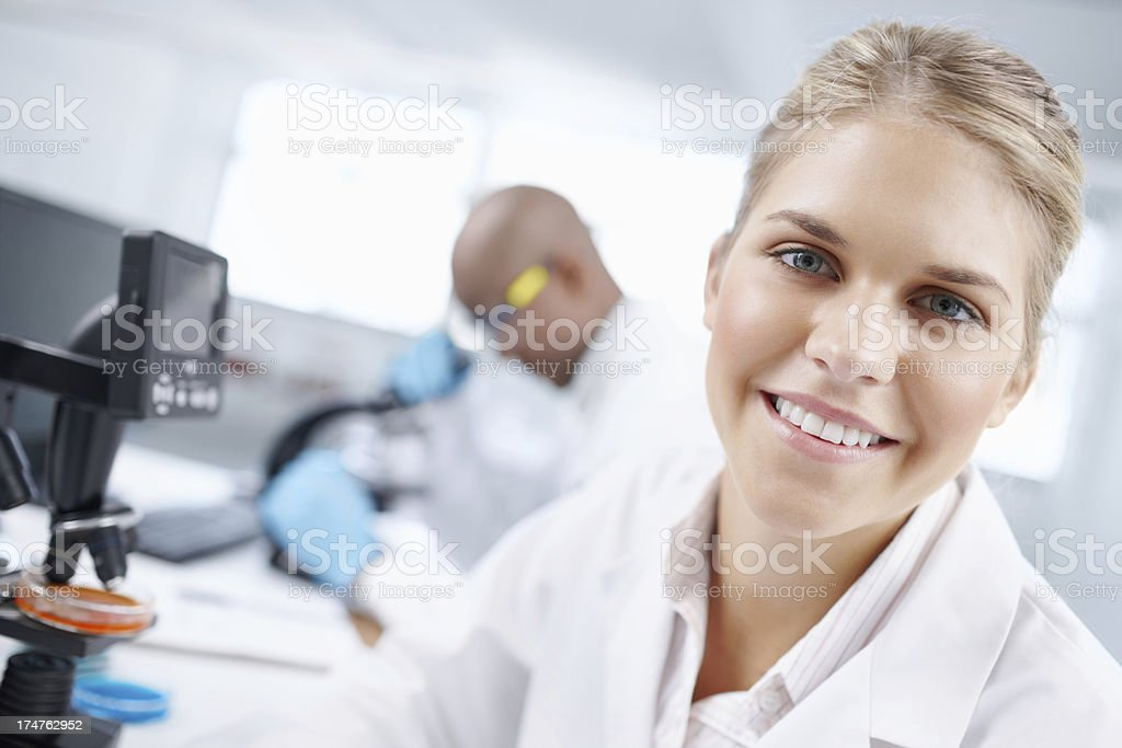 Dedicated to solving medical mysteries royalty-free stock photo