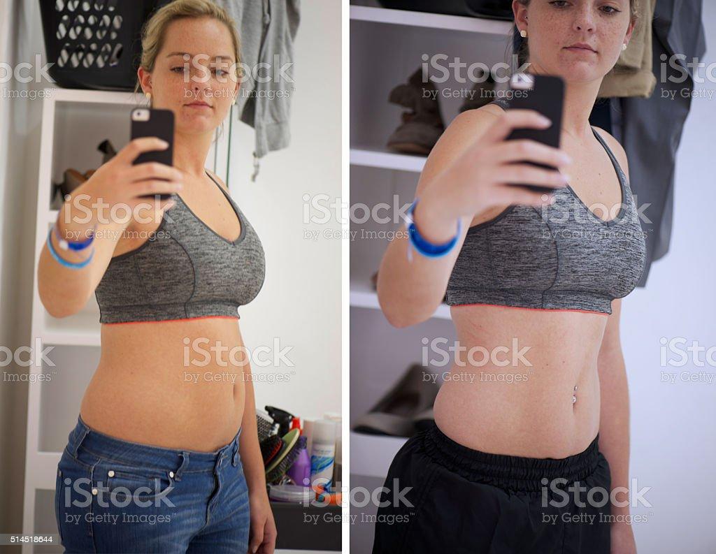 Dedication leads to progress stock photo