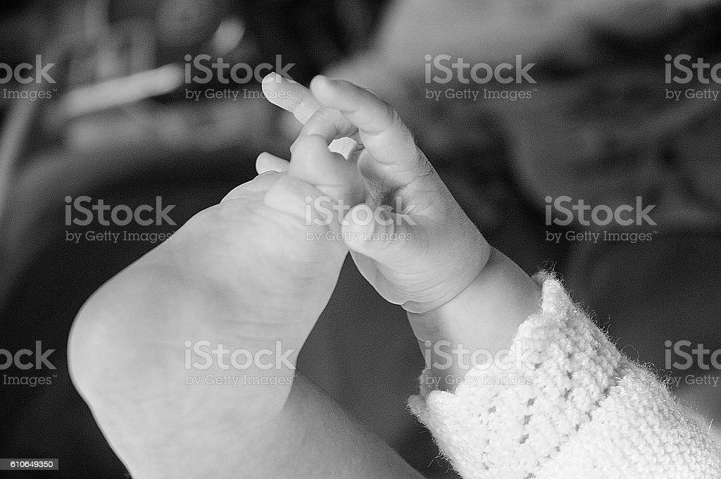 dedos y pies bebe royalty-free stock photo