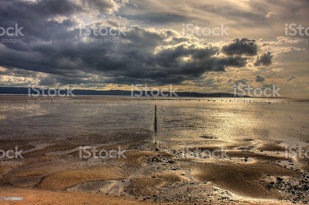 Dee Estuary royalty-free stock photo